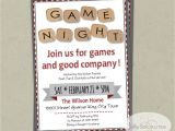 Game Night Party Invitations Word Scramble Game Night Invitation Instant Download