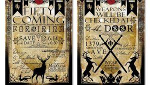 Game Of Thrones Birthday Invitation Template Game Of Thrones Birthday Invitation Odd Lot Paperie