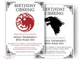 Game Of Thrones Party Invitation Wording Dragon Birthday Invitation Wolf Birthday Invitation
