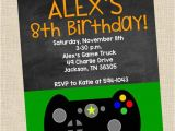 Gaming Party Invitation Template Personalized Video Game Birthday Party Printable