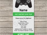 Gaming Party Invitation Template Playstation Party Ticket Invitation Template Video Game