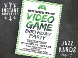 Gaming Party Invitation Template Printable Video Game Birthday Invitation Template Diy