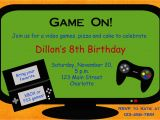 Gaming Party Invitation Template Video Game Birthday Party Invitation Video by