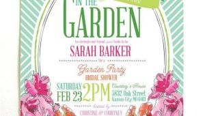 Garden Party Bridal Shower Invitation Wording Derby Garden Party Bridal Shower Invitations