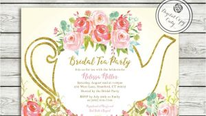 Garden Tea Party Bridal Shower Invitations Garden Tea Party Bridal Shower Invitation High Tea