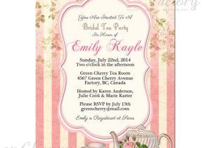 Garden Tea Party Bridal Shower Invitations Items Similar to Tea Party Invitation Bridal Shower