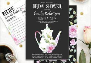Garden Tea Party Bridal Shower Invitations Printable Bridal Tea Party Bridal Shower Invitation Garden
