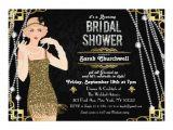 Gatsby Bridal Shower Invitations Great Gatsby Art Deco Bridal Shower Invitation Zazzle
