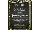 Gatsby Bridal Shower Invitations Great Gatsby Bridal Shower Invitation Art Deco Zazzle