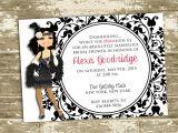 Gatsby Bridal Shower Invitations Great Gatsby Flapper Inspired Bridal Shower Party Invitation