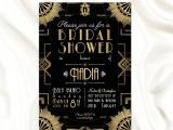 Gatsby Bridal Shower Invitations the Great Gatsby theme Bridal Shower Invitation