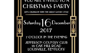 Gatsby Christmas Party Invitations Gatsby Classic Deco Christmas Party Invitations Paperstyle