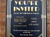 Gatsby themed Party Invitations Gatsby Party Invites Gypsy soul