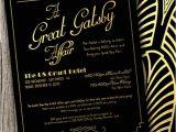 Gatsby themed Party Invitations Great Gatsby themed Party Invitations Cimvitation