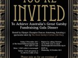Gatsby themed Party Invitations Party Invitations Great Gatsby Party Invitations Ideas