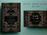 Gatsby Wedding Invitation Template Free Art Deco Wedding Invitation Template Gatsby Wedding
