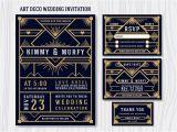 Gatsby Wedding Invitation Template Free Great Gatsby Art Deco Wedding Invitation Design Template