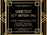 Gatsby Wedding Invitation Template Free Great Gatsby Invitation Black and Gold In 2019