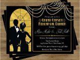 Gatsby Wedding Invitation Template Free Great Gatsby Invitation Rehearsal Dinner Invitation