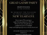 Gatsby Wedding Invitation Template Free Great Gatsby Invitation Template In 2019 Great Gatsby
