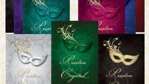 Gems Wedding Invitations Lace Gem Masquerade Wedding Invitation Digital Printable or