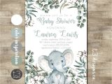 Gender Neutral Elephant Baby Shower Invitations Elephant Baby Shower Invitation Gender Neutral Baby