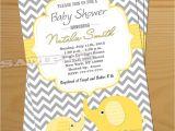 Gender Neutral Elephant Baby Shower Invitations Elephant Baby Shower Invitation Gender Neutral Baby Shower