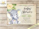 Gender Neutral Elephant Baby Shower Invitations Elephant Baby Shower Invitation Gender Neutral Shower