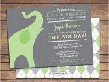 Gender Neutral Elephant Baby Shower Invitations Gender Neutral Baby Shower Invitation Elephant theme