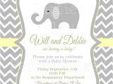 Gender Neutral Elephant Baby Shower Invitations Gender Neutral Elephant Baby Shower Invitation