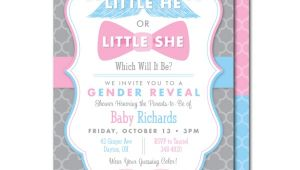 Gender Reveal Baby Shower Invitation Wording Gender Reveal Baby Shower Invitations