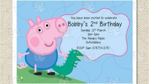 George Pig Party Invitations Personalised George and Dinosaur Peppa Pig Party Birthday