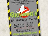 Ghostbusters Birthday Party Invitations Ghostbusters Birthday Invitation