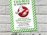 Ghostbusters Birthday Party Invitations Ghostbusters Birthday Party Invitation Printable Diy by