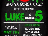 Ghostbusters Birthday Party Invitations Ghostbusters themed Birthday Party Invitation by