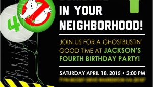 Ghostbusters Party Invitations Template Best Ghostbusters Birthday Invitations Templates