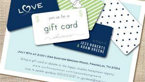 Gift Card Bridal Shower Invitations T Card Bridal Shower Invitation Wording