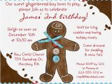 Gingerbread Birthday Party Invitations Gingerbread Holiday Birthday Invitation 1st Christmas