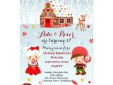 Gingerbread Birthday Party Invitations Gingerbread House Birthday Party Invitation Zazzle