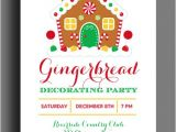 Gingerbread House Birthday Party Invitations 20 Gingerbread House Decorating Party Invitations