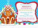 Gingerbread House Birthday Party Invitations Gingerbread House Party Invitations Cimvitation