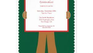 Gingerbread Man Birthday Party Invitations Cute Gingerbread Man Holiday Party Invitation 13 Cm X 18