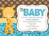 Giraffe Baby Shower Invitations Template Baby Shower Invitations Giraffe theme