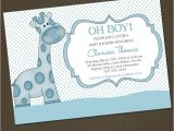 Giraffe Baby Shower Invitations Template Funny Giraffe Baby Shower Invitation Wording Template
