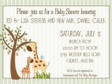 Giraffe Baby Shower Invitations Template Pink Giraffe Baby Shower Invitations Image
