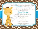 Giraffe Baby Shower Invites Baby Shower Invitations Giraffe theme