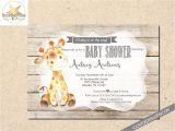 Giraffe Baby Shower Invites Giraffe Baby Shower Invitation Gender Neutral Shower