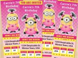 Girl Minion Party Invitations 25 Best Ideas About Girl Minion On Pinterest Pink