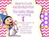 Girl Minion Party Invitations Despicable Me Invitation Minion Invitation Girl by