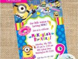 Girl Minion Party Invitations Girl Minions Pool Party Printable Invitation Birthday